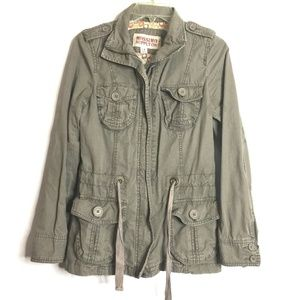 Mossimo Green Military Inspired Utility Jacket